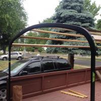 Home made single cab tilt bows canopy
