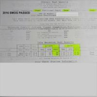 1987 Syncro California Smog Certificate