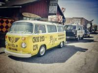 Recovered!   Cross Eyed Cow Pizza's 1975 bus stolen