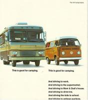Vw bus advertising this is good for camping