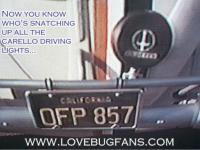 Herbie's driving light is a Carello PF 130 Mirage