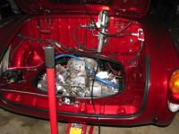 engine in place in Ghia