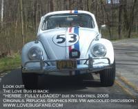 Herbie sports a new roll bar...