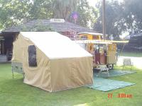1957 Heilite Single wheel pop-up tent trailer