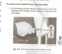 heat/defrost knob