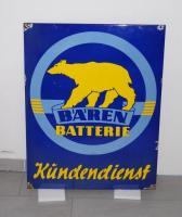 Bären Batterie Kundendienst enamel sign