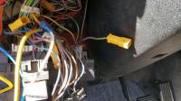 loose wire behind fusebox