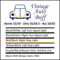 Wiring Diagram For A 1955 To 1959 Karmann Ghia Turn Signal Switch