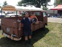 My old `66 Single Cab at the Wauseon Antique Motorcycle swap 2016