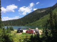 Vanagons by lake