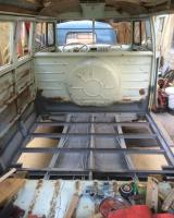 Getting the dormobile so42 ready for its new rear floor