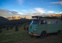 Camper in Rockies
