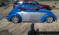 1958 bug with canvas sun roof welded in..
