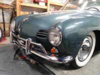 1959 dolphin blue coupe front bumper and horns