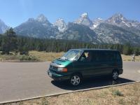 Eurovan at the Grand Tetons