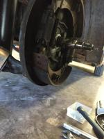 Brake shoe lining broke off
