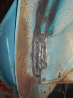 Regatta Blue 1968 Squareback rust repair