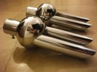 Bug exhaust tip chrome accessories