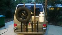 EV Swing-out tire-carrier and bike rack