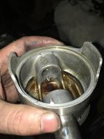 broken / welded wrist pin