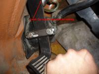 Clutch pedal modification for Subaru conversion with the SS bell housing