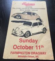 Vintage Farmington Bug Bash poster
