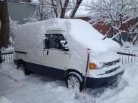 Eurovan in the snow