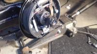 Rear stub axle