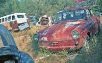 Squareback in Pearson's Auto Wrecking, Mariposa CA 1995
