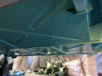 turkis paint starting to go on