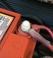 Battery terminal insulation