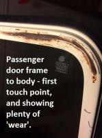 First touch point of passenger door differs from driver door