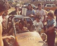 1973 Ivan Stewart Class 2 car win with Thing in background
