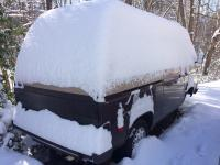 7 inches of snow on my 84 Westy