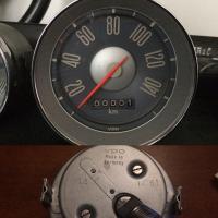 Refurbished KM speedometer red needle gauge 12/61