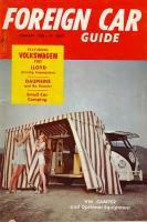 February 1960 Foreign Car Guide Westfalia