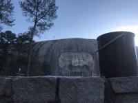 Stone Mountain in the bus