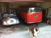 1954 RHD Barndoor Deluxe and 1952 Porsche Split Cabriolet (Hoffman Import)