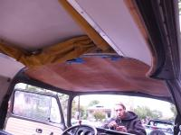 """Fixing a hole in the roof where the rain get in: """"71 Riviera resto"""