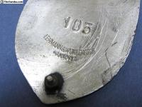 1960's Volkswagen Club of Natal Badge, Pin & Decal