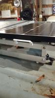 Solar panel installation solution within Westy luggage rack