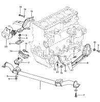 97 Mexico bus engine mount
