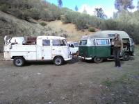 61 double cab ready to be towed behind 71 adventure wagon
