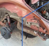 Late Model (1974-1979) Rear Bumper Bracket Mount