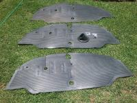 Reproduction Barndoor floor mats and gas tank boots