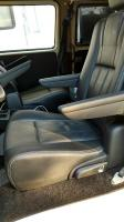 Black leather Caravan seats