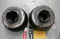 Oil bath air cleaner filter mod for dual 28PCI intakes