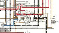 Close up ignition wiring 1970