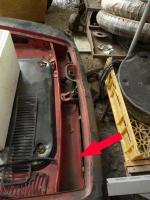 Type 34 Karmann Ghia - inner top panel for the rear apron