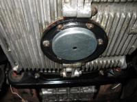 HF magnet used to attract metal out of oil flow in engine.